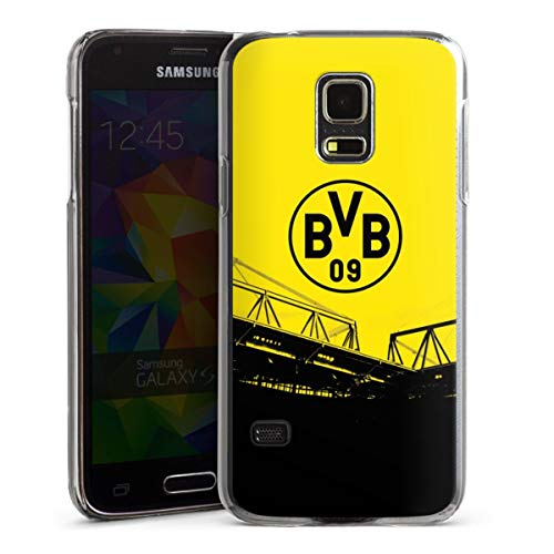 DeinDesign Hard Case kompatibel mit Samsung Galaxy S5 Mini Schutzhülle transparent Smartphone Backcover Borussia Dortmund BVB Fanartikel