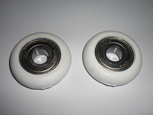 1 Paar Eckerttortechnik Garagentorrollen Aüßendurchmesser 45 mm Bohrung 12 mm Breite 12,5 mm