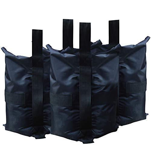 ABCCANOPY Bolsas de peso para tienda de campaña, refugios instantáneos, 4 unidades, capacidad de 40 libras por bolsa