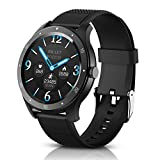 <span class='highlight'><span class='highlight'>BYTTRON</span></span> Smart Watches, 1.3'' Full Round HD Touchscreen Fitness Tracker with Heart Rate Tracking, Blood Pressure Heart Rate Featurs Sleep Monitor Fitness Watch,Pedometer SMS Remind for Men Women