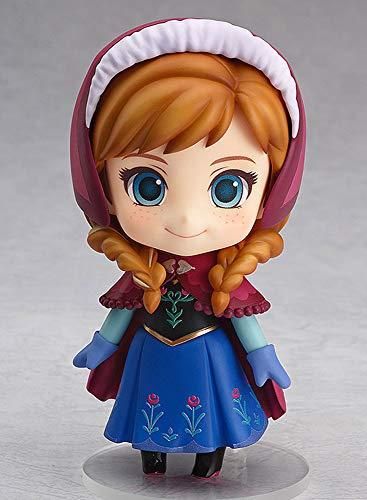 BOBLI 10CMQ versie van de klei Frozen Anna Little Princess Xuebao beeldje figuur PVC materiaal animatie handgemaakte kunst souvenir collectie decoraties voor actiefiguren kantoor decoratie