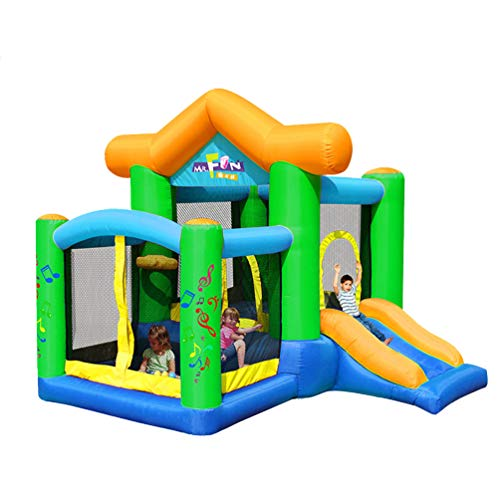 XGYUII Children's Bouncy Castle Square Toy Slide Home Park Inflatable Water Slide Climbing Slide Jumping Trampoline