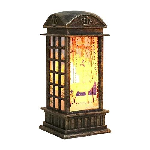 YUAN CHUANG Snowman Candle Light Hanging Light Candlestick Lantern Street Lamp Elk Home Decoration Santa Claus Creative (Color : Bronze elk)
