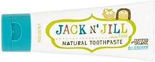 有機香味50グラムとの自然なブルーベリー歯磨き粉 (Jack N Jill) (x 6) - Jack N' Jill Blueberry Toothpaste Natural with Organic Flavouring 50g (Pack of 6) [並行輸入品]