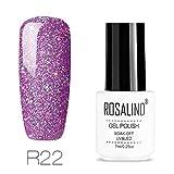 ROSALIND esmaltes permanentes de uv y led de uñas de gel Soak Off UV & LED Rainbow Color Series Gel Barniz