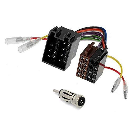 Sound-way Universal Verbindingskabel Kabelboom Verlenging Radio ISO Stekker Bus en Antenne Adapter
