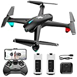 1080p FPV Drone with HD Camera for Adult Kid Beginner,Live Video 120°Wide-Angle WiFi Quadcopter with Altitude Hold Headless Mode One Key Start Speed Adjustmen 20min Flight Time 2 Batteries, Easy Fly