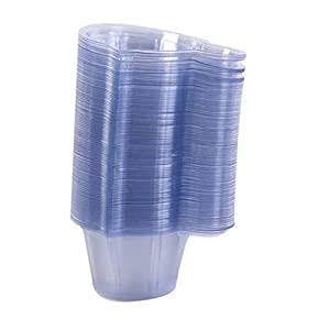PPX 100 Pack Urine Cups,Plastic Disposable Urine Specimen Cups for Ovulation Test/Pregnancy Test/pH Test Etc. 40ML/1.36 oz