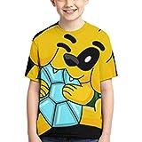 VJSDIUD Camisetas Boys Girls T-Shirt Cool Crewneck Short Sleeve Graphic T Shirt Mi_k_ecra-CK Nordic Style Short-Sleeved T-Shirt Mi_k_ecra-CK Black