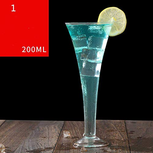 Crystal Glass Champagne glazen Bruiloft High Foot Martini Bubble Vorm Sweet Wine Cocktail Cups, 2 zhihao (Color : 1)