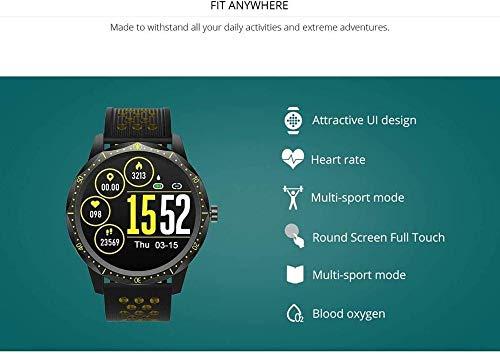 Reloj inteligente de pantalla a color a todo táctil, correa de silicona para deportes al aire libre IP67 impermeable multi-dial tema ajuste pulsera, regalo para hombres y mujeres-rojo
