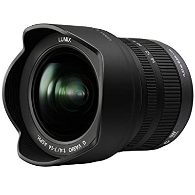 PANASONIC LUMIX G VARIO LENS, 7-14MM, F4.0 ASPH., MIRRORLESS MICRO FOUR THIRDS, H-F007014 (USA BLACK) (Renewed) from Panasonic