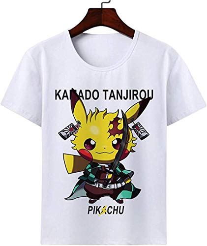 Marutuki 鬼滅の刃 夏用 半袖 子供服 tシャツ キッズ 男の子 女の子 半袖 記念シャツ Tシャツ 鬼滅の刃Tシャツ 90-160cm (150cm, 1#)