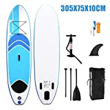 XUDREZ Inflatable Stand-up Paddle Board, Inflatable Ssurfboard with Adjustable Paddle Board, SUP Stand-up