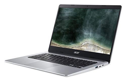 Acer Chromebook 314 (14 Zoll Full-HD IPS Touchscreen matt, 19,7mm flach, extrem lange Akkulaufzeit, schnelles WLAN, MicroSD Slot, Google Chrome OS) Silber