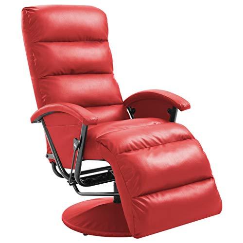 vidaXL TV Sessel Fernsehsessel Relaxsessel Liegesessel Ruhesessel Polstersessel Relaxliege Liegestuhl Ledersessel Loungesessel Rot Kunstleder