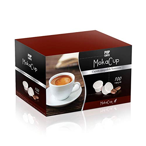 100 CAPSULE POP CAFFE\' MOKA-CUP 4 DECAFFEINATO COMPATIBILI DOMO TERMOZETA ESPRESSO CUP