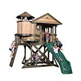 Backyard Discovery Eagles Nest Elevated Outdoor Wooden Playhouse