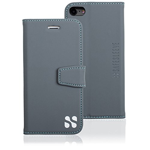 SafeSleeve EMF Protection Anti Radiation iPhone Case: iPhone 8, iPhone 7 and iPhone 6 RFID EMF Blocking Wallet Cell Phone Case (Grey)