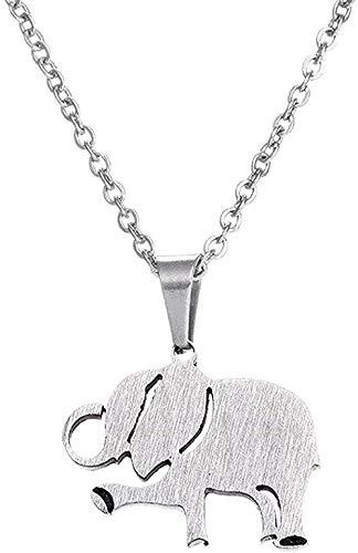 ZJJLWL Co.,ltd Collar Collar 1 Pieza Collar de Acero Inoxidable Precioso Elefante Bailando Collares Pendientes Mujeres Niños Cadena Larga Regalo de Fiesta para Mujeres Hombres Regalos