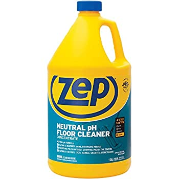 Zep Neutral pH Floor Cleaner Concentrate 1 Gallon ZUNEUT128 - Pro Trusted All-Purpose Floor Cleaner with No Residue,Blue  packaging may vary