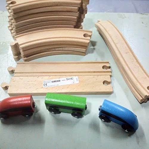 Ikea Juego de 19 trenes de madera no tóxica para niños de 3 a 7 años