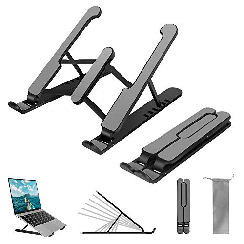 Gadom Laptop-Ständer, faltbar, belüftet, 6-stufig, höhenverstellbar, ergonomisch, kompatibel mit iMac Laptop, Notebook, Computer, Tablet