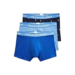 414qRWzr7HL. SS300  - Ralph Lauren - Boxer Hombre Pack de 3 Piezas Color Azul Cielo/Azul/Negro con Logos 714662050054 - Multicolor, M
