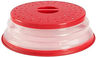 Nifogo Pliable Micro-Onde Plaque,Couvercle Pliable de Micro-Onde passoire,Cloche Micro-Ondes,Accessoire Lave Vaisselle,san...