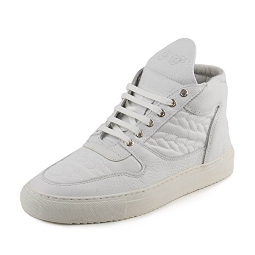 FILLING PIECES Mens Mid Top Transformed SS15 Bracelet White Leather Size 40