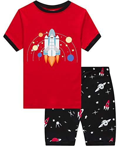 Boys Pajamas 100% Cotton Space Summ…