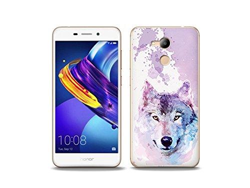etuo Handyhülle für Huawei Honor 6C Pro - Hülle Fantastic Case - Traumwolf - Handyhülle Schutzhülle Etui Case Cover Tasche für Handy