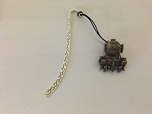 Flying Scotsman Train Box1 B Pattern bookmark with cord 3D English pewter charm
