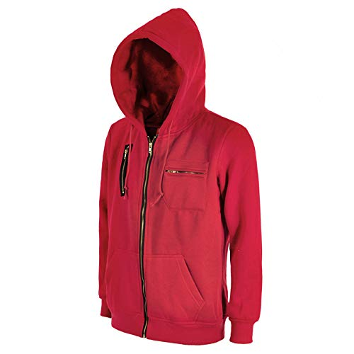 2REMISE Disfraz De Fiesta De Halloween Casa De Papel Moneda Cosplay Ropa Dali Suéter con Capucha Código Europeo Amazon Rojo M
