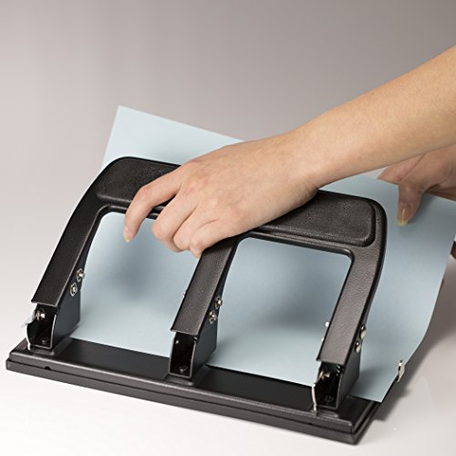 Officemate Heavy Duty 3 Hole Punch with Padded Handle, 40-Sheet Capacity, Black (90089) Photo #3