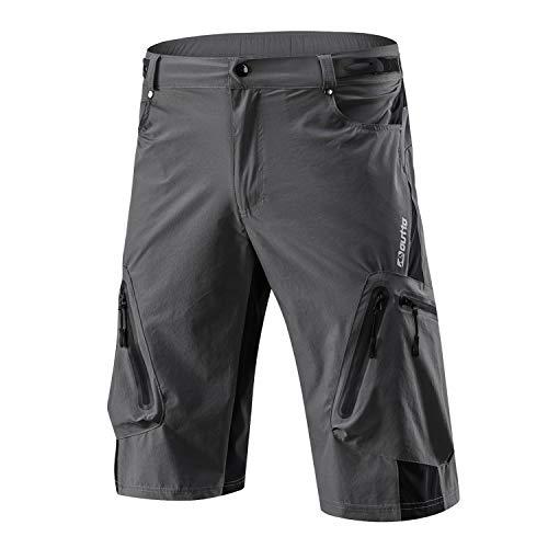 SUKUTU Pantaloncini da Ciclismo per Uomo Baggy Sports Outdoor MTB Pantaloncini da Corsa per Ciclismo Mountain Bike Downhill Shorts