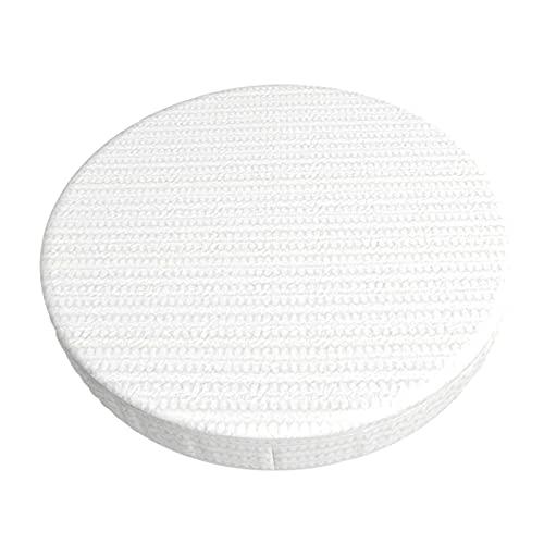 Funda de cojín para silla de bar redonda de encaje (gris sobre blanco) de 30 cm (aproximadamente 30 cm), suave y antideslizante funda de asiento elástica para cinturón