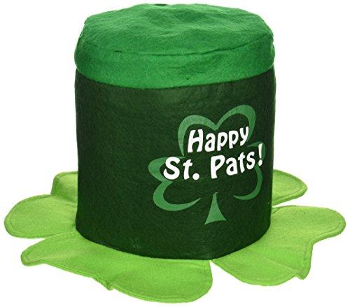 Beistle 30775 Happy St Pat's Chapeau en Tissu Vert/Blanc