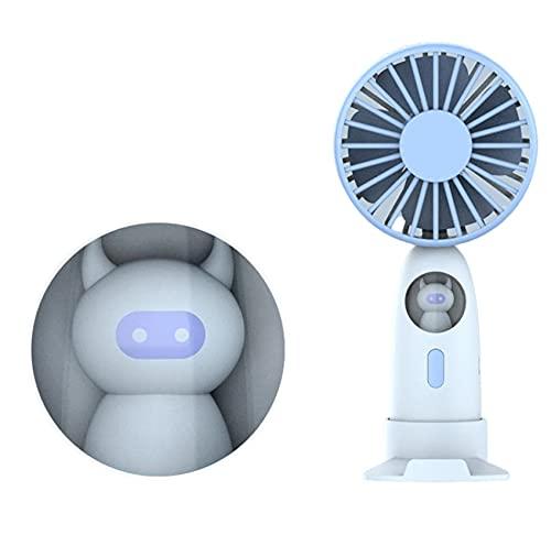 Un Pequeño Ventilador Para Lámparas Nocturnas Que Contiene Un Mini Ventilador De Carga Azul