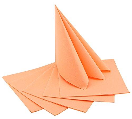 100 Stück (0,35€/Stück) Servietten APRICOT stoffähnlich 40 x 40 cm zum Falten Hochzeit...