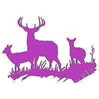 面白い車のステッカーの鹿世帯のアクセサリー遮断キズブリチルポーズ4cm * 16cm (Color : 5)