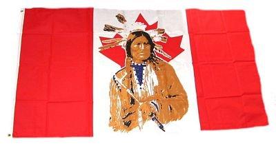 Flaggenking Kanada - Indianer Flaggen/Fahnen, Mehrfarbig, 150x90x1 cm