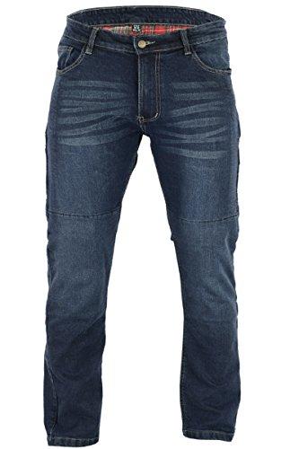 BUSA Bikers Gear Motorrad-Jeans Protective Aramid Fiber Stretch Denim für Herren,Motorradrüstung im modernen Komfort Fit Blau 36W 30L
