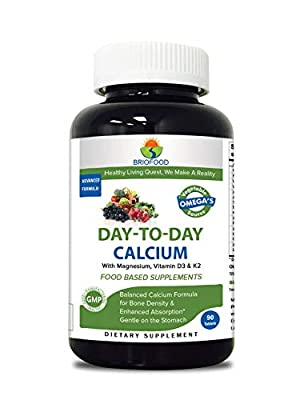 Briofood, DAY-TO-DAY Food Based Calcium (90 Tablets) with Vegetable Source Omegas from Briofood
