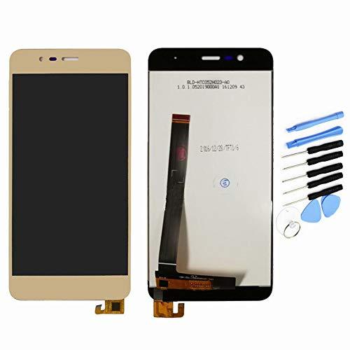 YQZ para ASUS Zenfone 3 Max ZC520TL X008D pantalla táctil digitalizador LCD Asamblea (dorado)