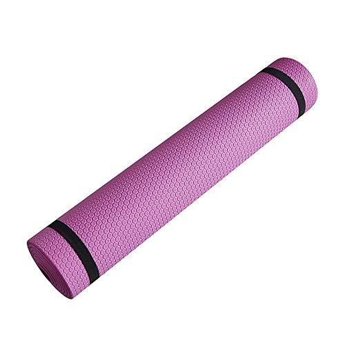 Esterilla de yoga antideslizante de 3 mm a 6 mm de grosor, espuma EVA cómoda de yoga mate para ejercicio, yoga y pilates (color: 6 mm rosa)