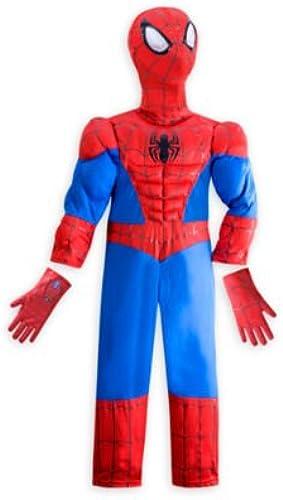 Ultimate Spider-Man Kostüm für Kinder - Größe  5-6 Jahre, kommt mit Charakter Maske und Handschuhe