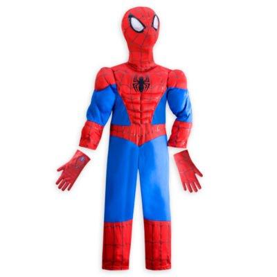 Ultimate Spider-Man Kostüm für Kinder - Größe: 5-6 Jahre, kommt mit Charakter Maske und Handschuhe