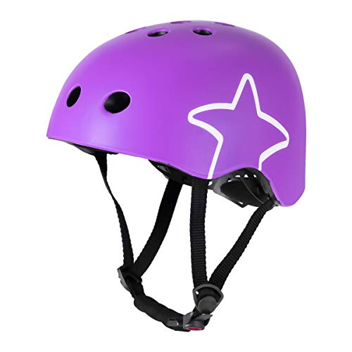 DRBIKE Kids Bike Helmet for 3 4 5 6 Years Boys & Girls, Child Bicycle Helmet for Toddler & Preschool, Infant Cycling Protective Gear for Scooter Cycling Skate Mutli-Sport, S, Purple