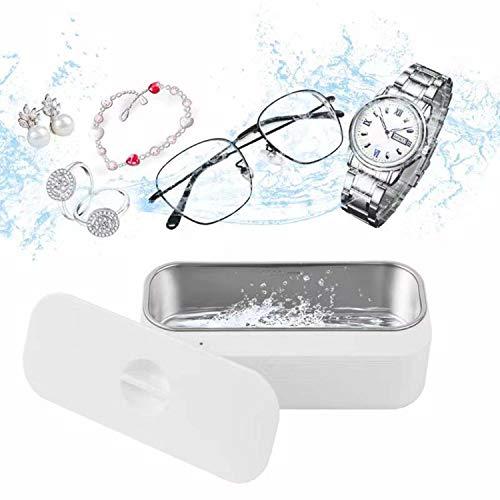 CAWCOW 超音波洗浄機 超音波クリーナー 眼鏡 殺菌洗浄機 43000HZ 強力振動 450MLの容 超音波 滅菌 洗浄機 メガネ 時計 指輪 化粧ブラシ 入れ歯 貴金属 (B)
